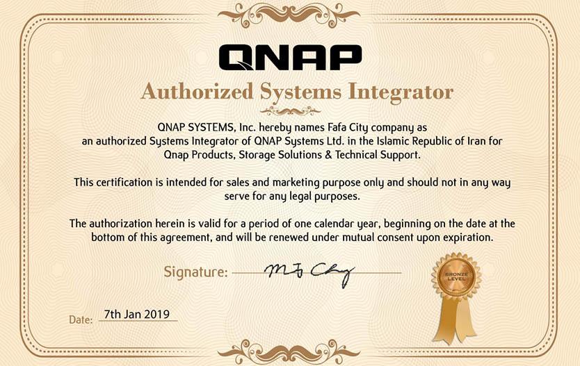 تصویر اصلی خبر کسب مدرک SI از QNAP توسط شهرفافا؛ با خیال آسوده از مشاوره، فروش و پشتیبانی، QNAP بخرید