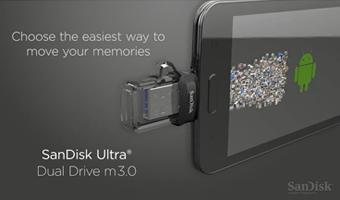 عکسفلش مموری 16گیگابایت Sandisk مدل ULTRA DUAL DRIVE M3